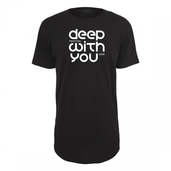 deep with you festival - Long Tee Schwarz - Logo