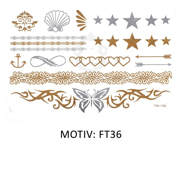 FESTIVAL TATTOO - METALLIC TATTOO - FT36