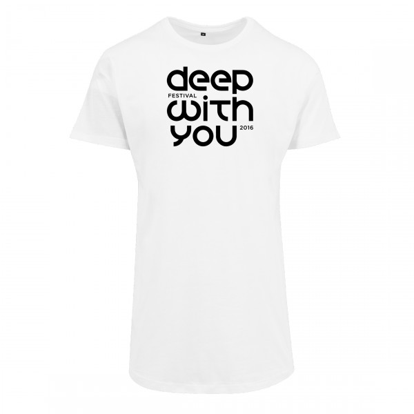 deep with you festival - Long Tee Weiß - Logo