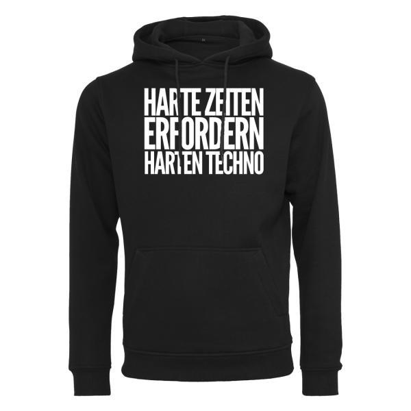 Kein Bock Auf Fratzen - Premium Hoodie - Harte Zeiten erfordern Harten Techno