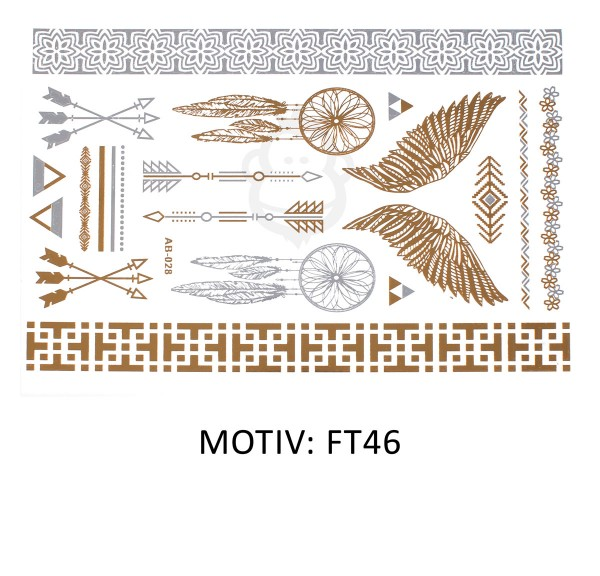 FESTIVAL TATTOO - METALLIC TATTOO - FT46