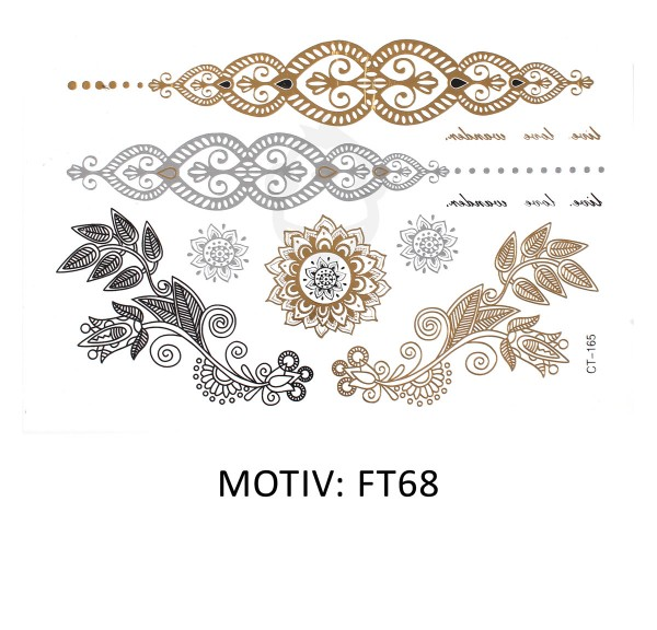 FESTIVAL TATTOO - METALLIC TATTOO - FT68