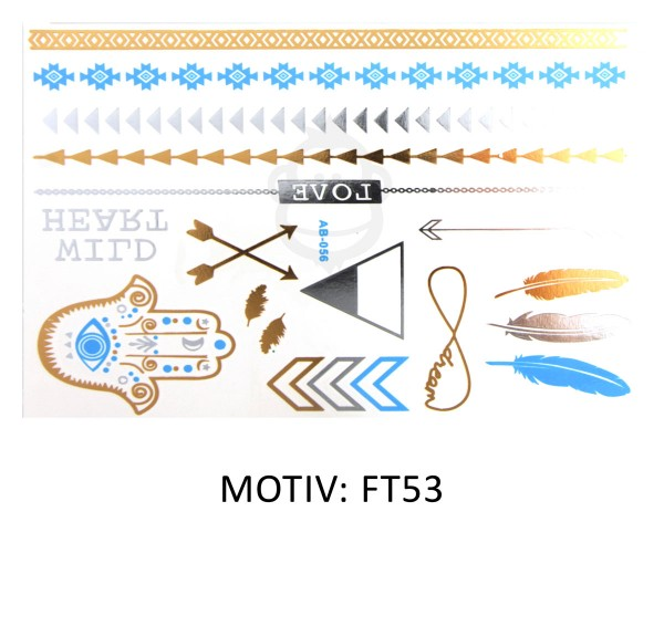 FESTIVAL TATTOO - METALLIC TATTOO - FT53