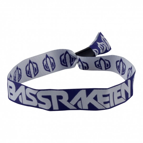 BassRaketen Stoffband Blau