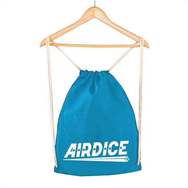 Airdice - Turnbeutel Blau - Schriftzug