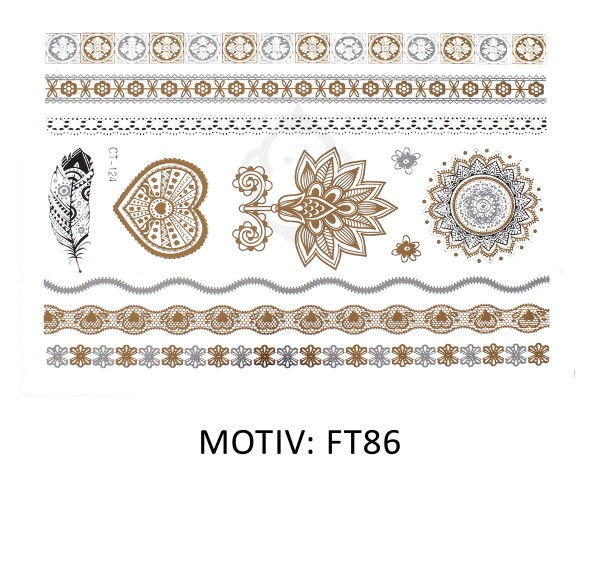 FESTIVAL TATTOO - METALLIC TATTOO - FT86