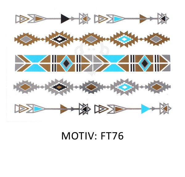 FESTIVAL TATTOO - METALLIC TATTOO - FT76