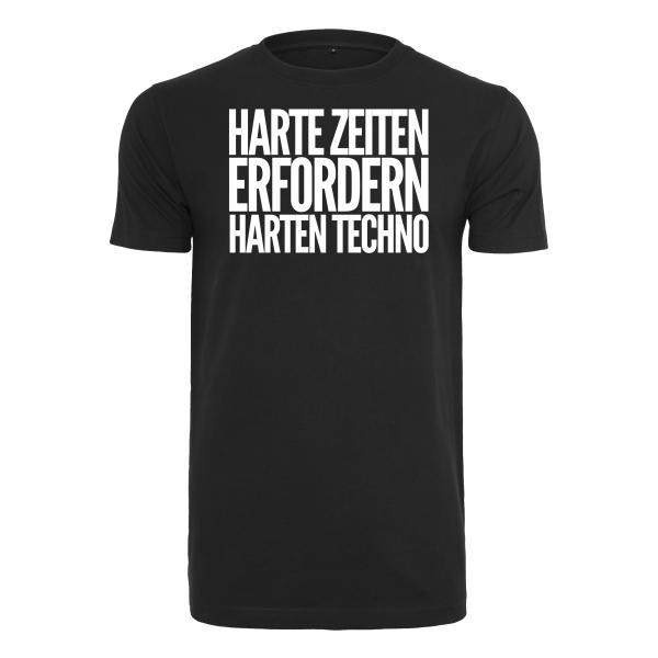 Kein Bock Auf Fratzen - T-Shirt Klassik - Harte Zeiten erfordern harten Techno