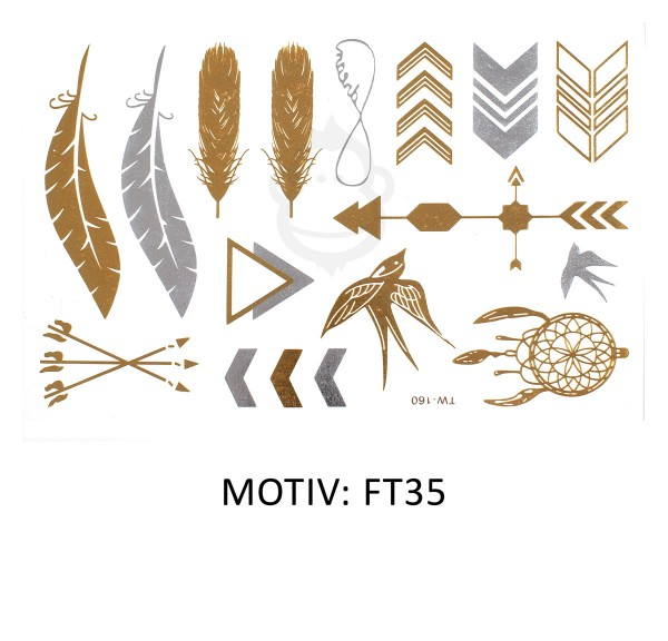 FESTIVAL TATTOO - METALLIC TATTOO - FT35