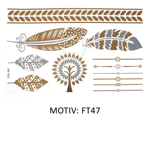 FESTIVAL TATTOO - METALLIC TATTOO - FT47