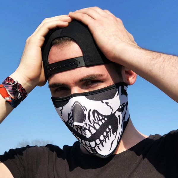 Neopren - Halbgesichtsmaske - Skull