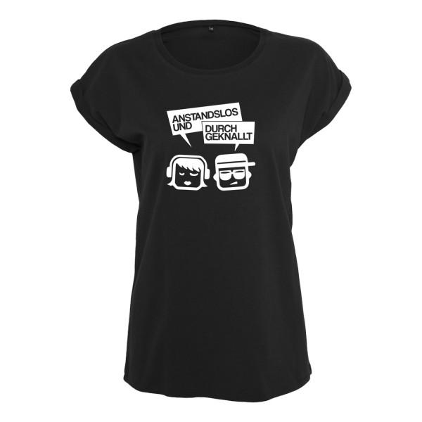 Anstandslos & Durchgeknallt - T-Shirt (Female) - Logo