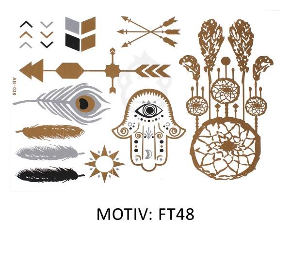 FESTIVAL TATTOO - METALLIC TATTOO - FT48