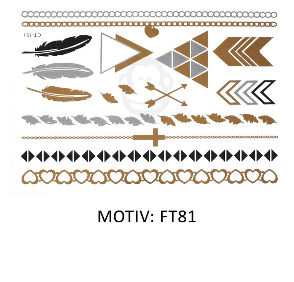FESTIVAL TATTOO - METALLIC TATTOO - FT81