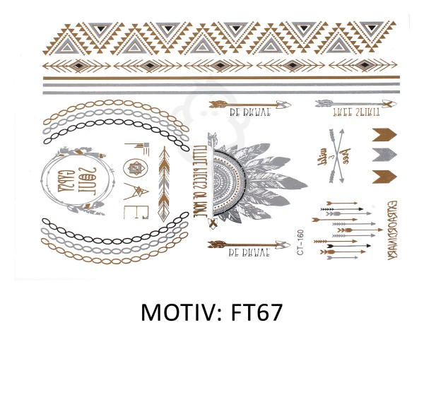 FESTIVAL TATTOO - METALLIC TATTOO - FT67