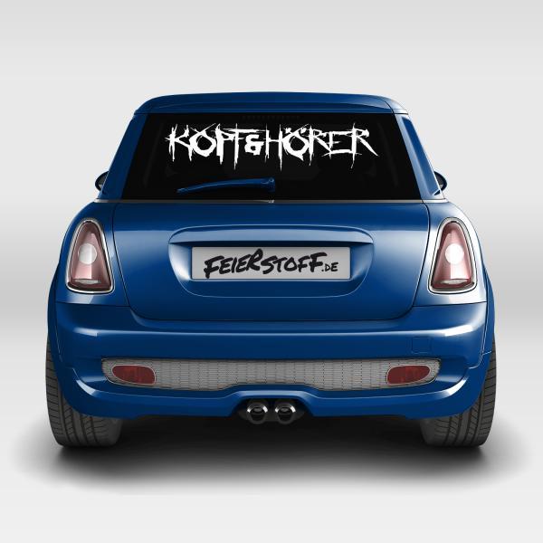 Kopf & Hörer - Autoaufkleber - Logo