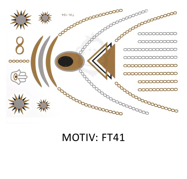 FESTIVAL TATTOO - METALLIC TATTOO - FT41