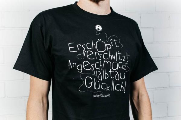 Dusted Decks Shirt - Glücklich - Schwarz (Male)