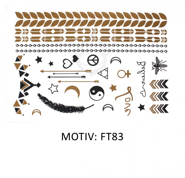 FESTIVAL TATTOO - METALLIC TATTOO - FT83