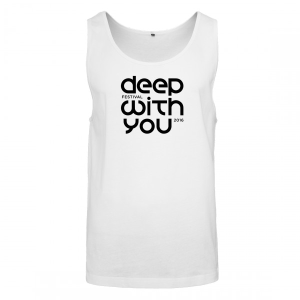 deep with you festival - Tank Top Weiß - Logo