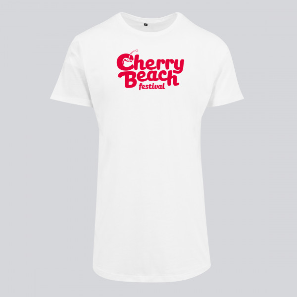 Cherry Beach - Long Tee Weiß