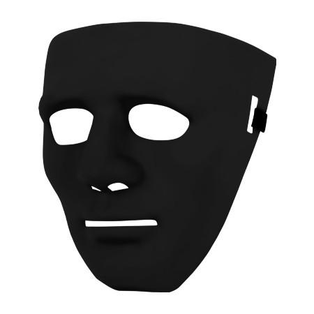 Partymaske - Halloween Schwarz