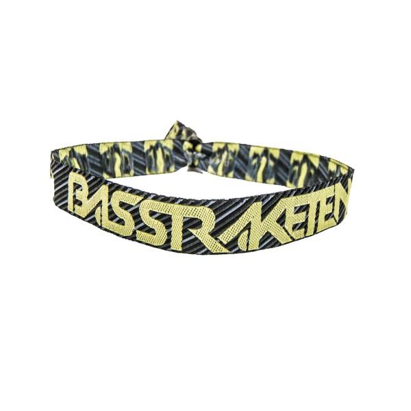 BassRaketen - Stoffband Gelb
