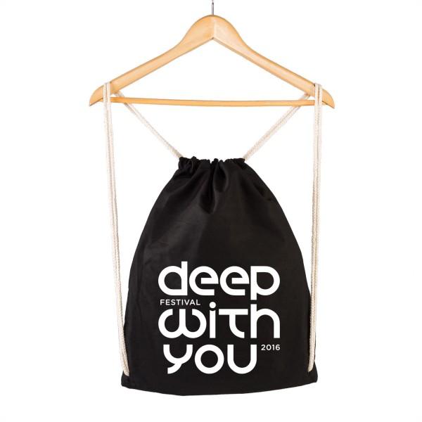 deep with you festival - Gymsac Schwarz - Logo