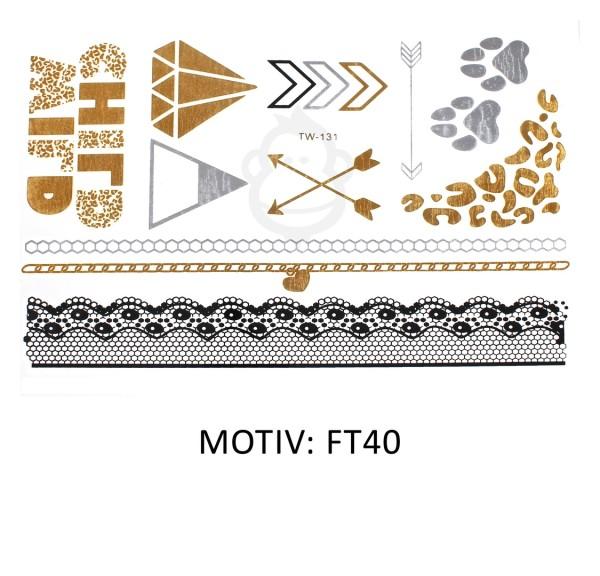 FESTIVAL TATTOO - METALLIC TATTOO - FT40