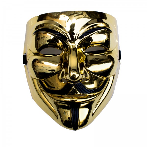 Partymaske - Anonymous - Metallic