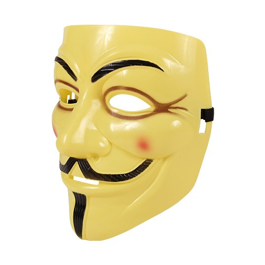 Partymaske - Anonymous - Gelb