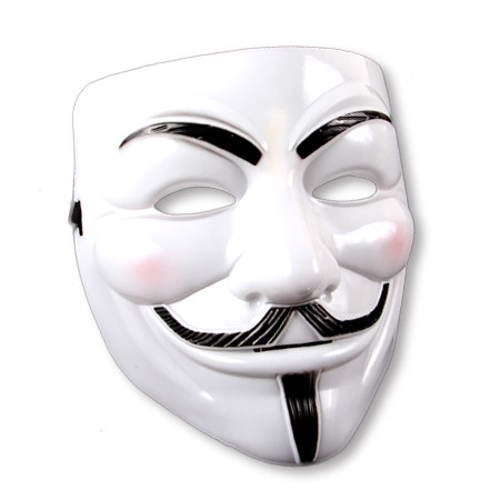 Partymaske - Anonymous - weiß