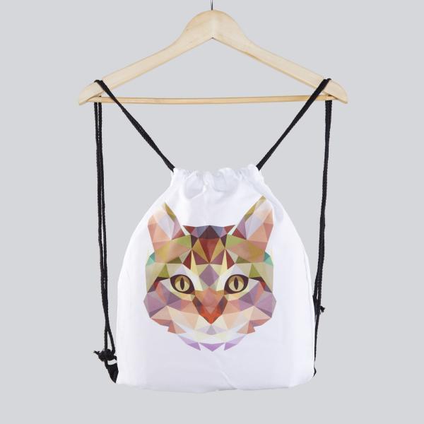 Turnbeutel Gymsac Katze