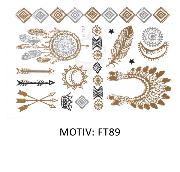 FESTIVAL TATTOO - METALLIC TATTOO - FT89