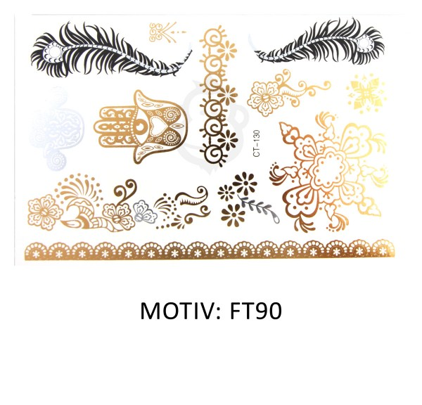 FESTIVAL TATTOO - METALLIC TATTOO - FT90