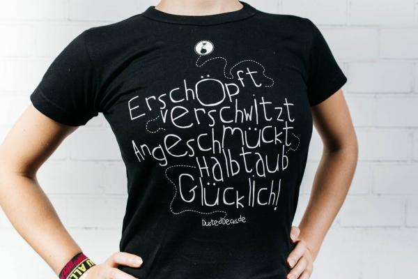 Dusted Decks Shirt - Glücklich - Schwarz (Female)
