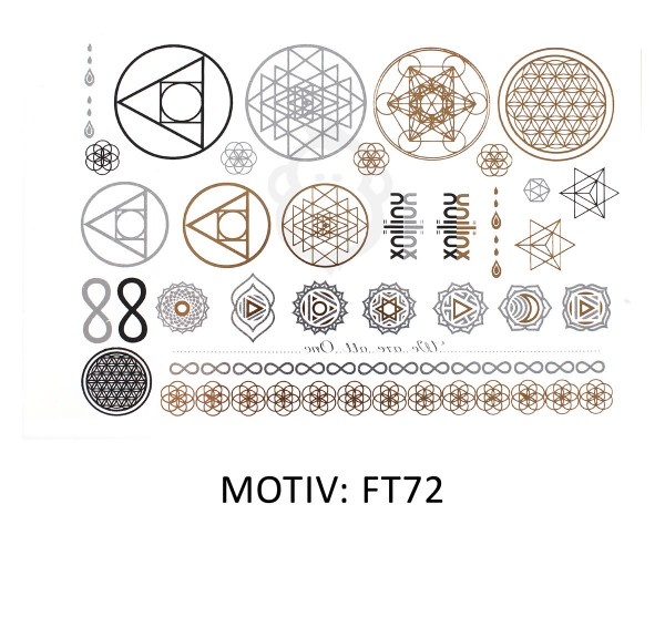 FESTIVAL TATTOO - METALLIC TATTOO - FT72