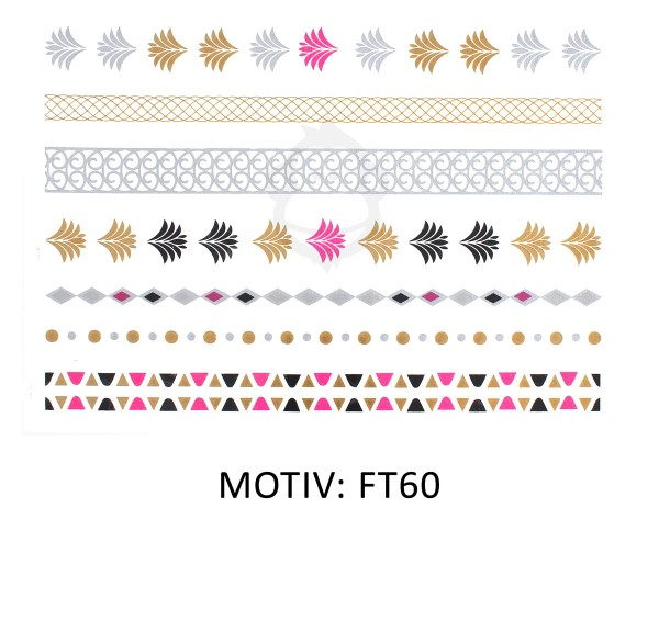 FESTIVAL TATTOO - METALLIC TATTOO - FT60