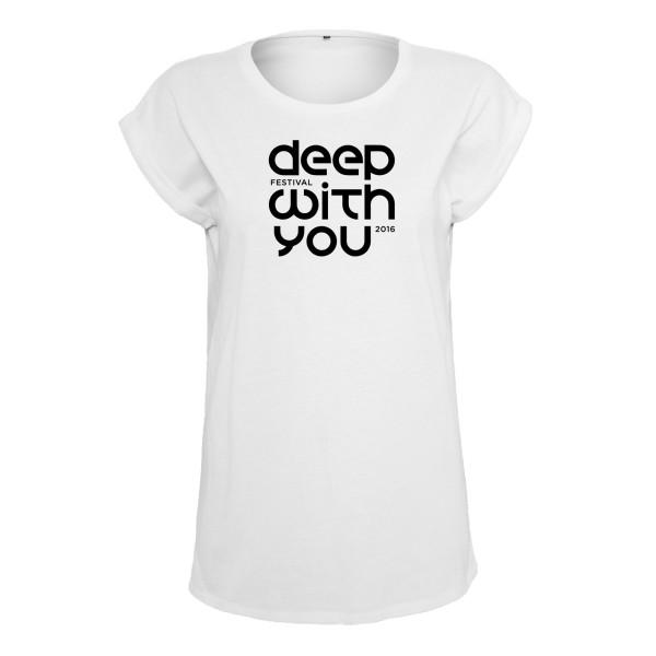 deep with you festival - T-Shirt (Female) Weiß - Logo