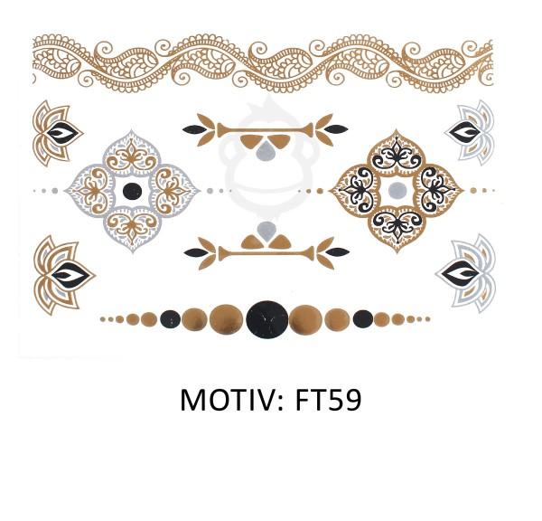 FESTIVAL TATTOO - METALLIC TATTOO - FT59
