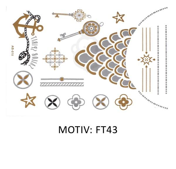 FESTIVAL TATTOO - METALLIC TATTOO - FT43