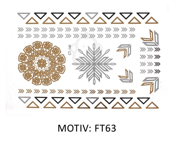FESTIVAL TATTOO - METALLIC TATTOO - FT63