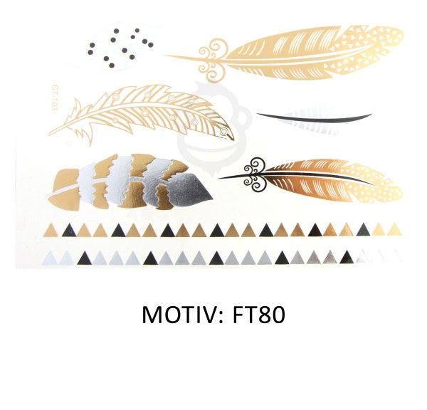 FESTIVAL TATTOO - METALLIC TATTOO - FT80